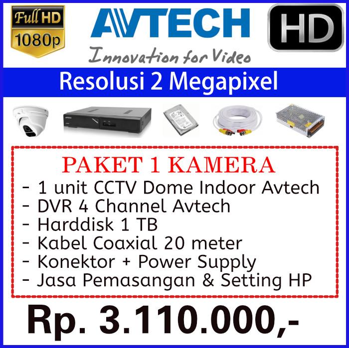 Paket 1 Kamera CCTV Avtech 2MP