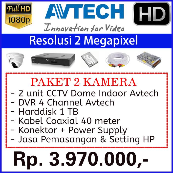 Paket 2 Kamera CCTV Avtech 2MP